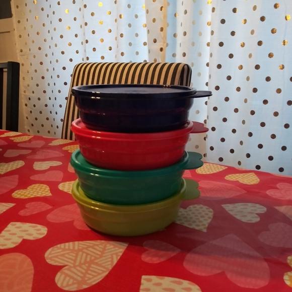 New Tupperware Reheatable Cereal Bowls
